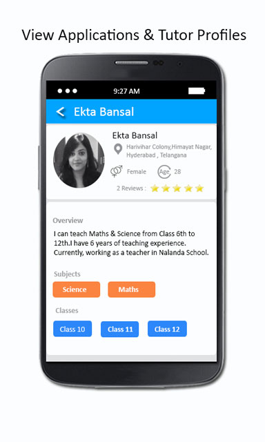 view tutor profiles