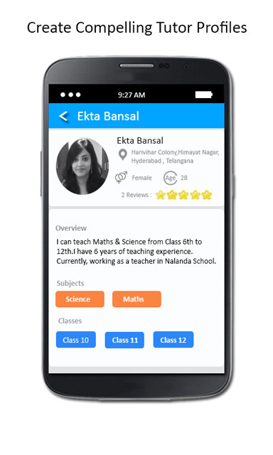 create tutor profile